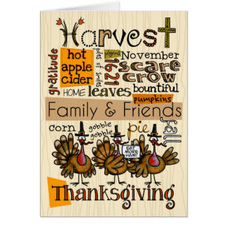 Thanksgiving wordcloud card