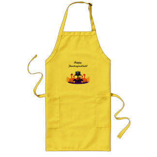 Thanksgivukkah Apron  Funny Wine Toasting Turkeys