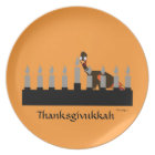 Thanksgivukkah Menorah Melamine Plate