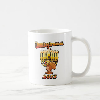 Thanksgivukkah Thanksgiving Chanukah A Funny Gift Basic White Mug