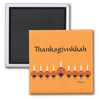 Thanksgivukkah Turkey Menorah Magnet