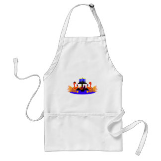 Thanksgivukkah Wine Toasting Turkeys Standard Apron