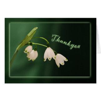 thankyou - snowdrops card