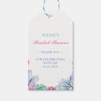 Thankyou Tag Favour Pastel Succulent Bridal Shower