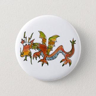Thar Be Dragons 6 Cm Round Badge
