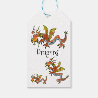 Thar Be Dragons Gift Tags