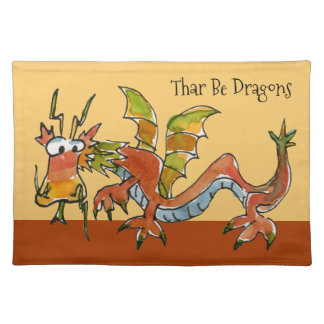 Thar Be Dragons Placemat