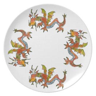 Thar Be Dragons Plate