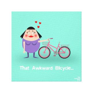 That Awkward Bicycle Canvas Print