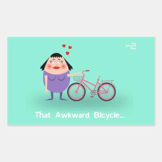 That Awkward Bicycle Rectangular Sticker