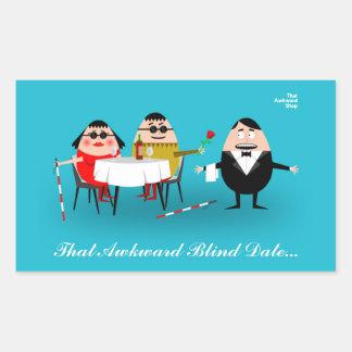 That Awkward Blind Date Rectangular Sticker