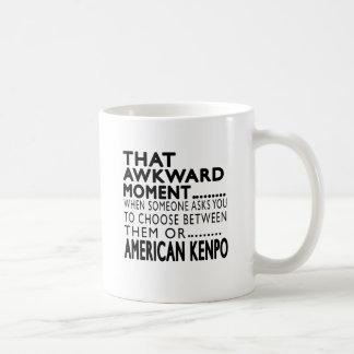 That Awkward Moment American Kenpo Designs Classic White Coffee Mug