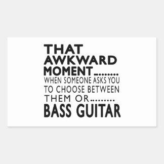 That Awkward Moment Bass Guitar Designs Rectangular Sticker