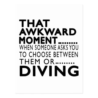 That Awkward Moment Diving Designs Postcard