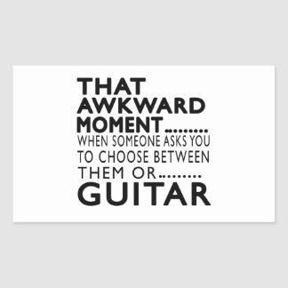 That Awkward Moment Guitar Designs Rectangle Stickers
