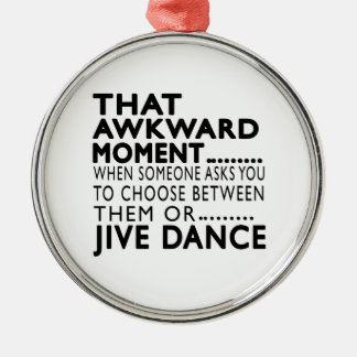 That Awkward Moment Jive Designs Silver-Colored Round Decoration