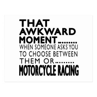 That Awkward Moment MOTORCYCLE RACING Designs Postcard