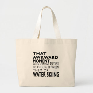 That Awkward Moment Water Skiing Designs Tote Bags