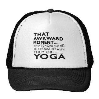 That Awkward Moment Yoga Designs Hats