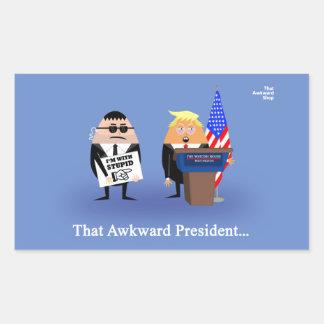 That Awkward President Rectangular Sticker