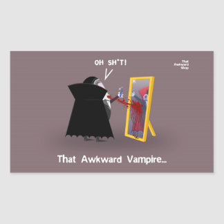 That Awkward Vampire Rectangular Sticker