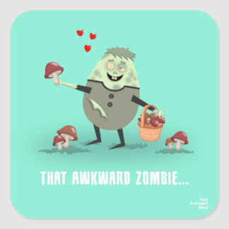 That Awkward Zombie Square Sticker