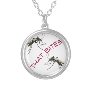 That Bites Silver Plated Necklace