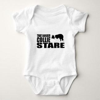 That Border Collie Stare Baby Bodysuit