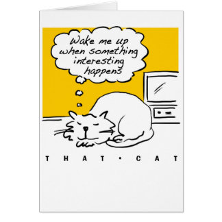 That Cat cartoon. Sleeping cat. Card