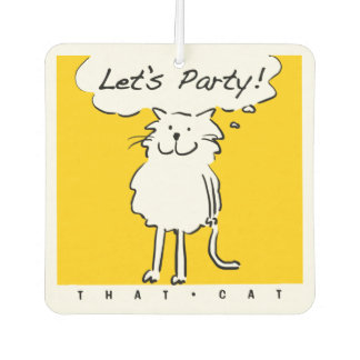 "That Cat Says ""Let's Party"" Car Air Freshener"