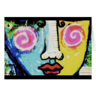 That Girl, a digitally altered painting Note Card