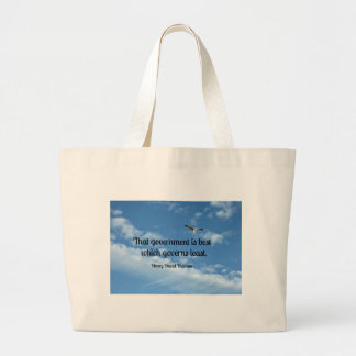 That government is best which governs least. jumbo tote bag
