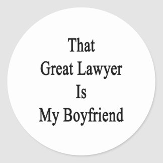 That Great Lawyer Is My Boyfriend Stickers