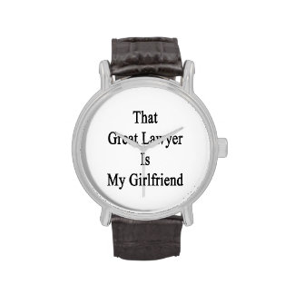 That Great Lawyer Is My Girlfriend Wristwatches