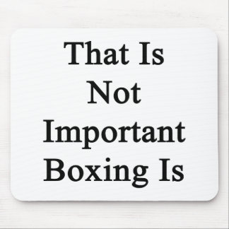 That Is Not Important Boxing Is Mousepads