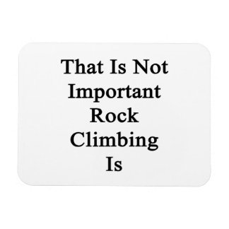 That Is Not Important Rock Climbing Is Rectangle Magnet