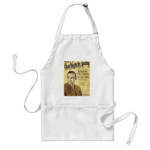 That Night in Araby Vintage Songbook Cover Apron
