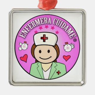 That to give a nurse Take care of to me Silver-Colored Square Decoration