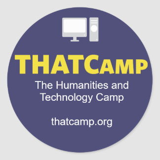 THATCamp sticker with graphic