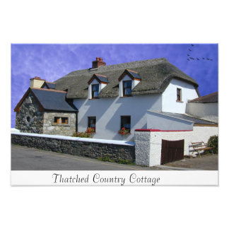 Thatched Cottage image for photo-print Photograph