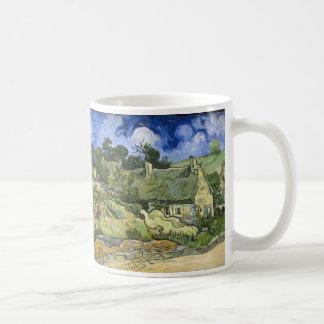 Thatched Cottages at Cordeville - Vincent Van Gogh Coffee Mug