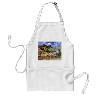 Thatched Cottages at Cordeville, Vincent Van Gogh Standard Apron
