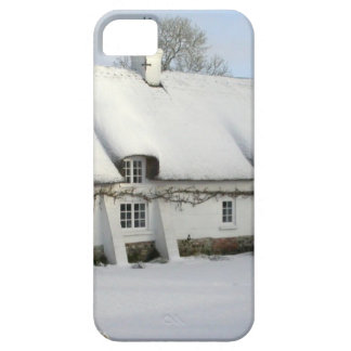 Thatched English Cottage in Snow Barely There iPhone 5 Case