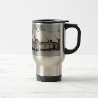 Thatched English Cottage in Snow Travel Mug