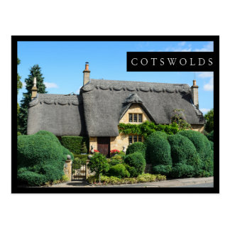 Thatched roof cottage in the Cotswolds black card