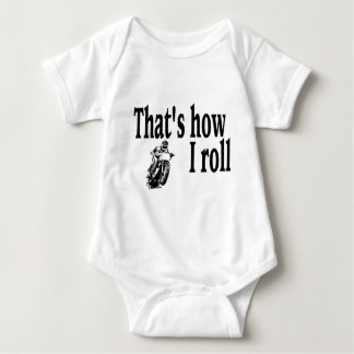 Thats How I Roll (Motocross) Baby Bodysuit