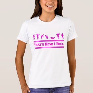 That's How I Roll Pedestrian Icon Somersault Funny T-Shirt
