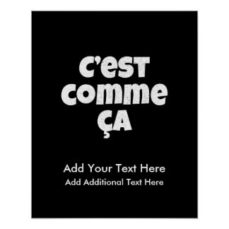 That's Just the Way it is - C'est Comme Ca French Poster