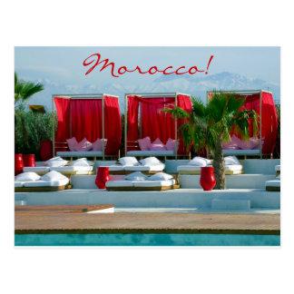 """That's life"", Morocco luxury poolside Postcard"