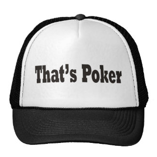 That's Poker Cap